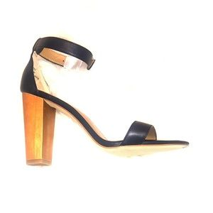 J. Crew Shoes - Jcrew Navy Chunky Heel Ankle Strap Sandal Shoes